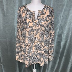 Loft blouse/tunic with roll up long sleeve EUC